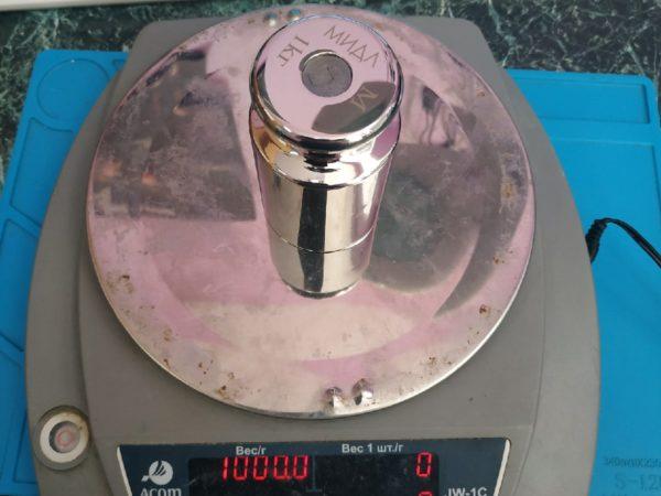 Весы ACOM JW-1C не верно показывают вес